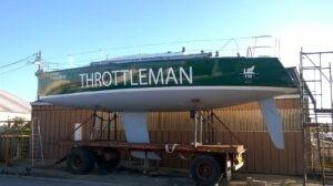 Decoração de barco Throttleman em vinil corte