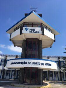 Logo da Administração do Porto de Aveiro em PVC