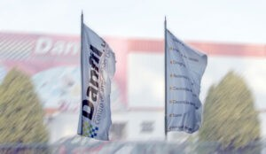 Bandeira publicitária Danfil
