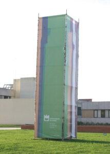Torre Universidade de Aveiro em lona microperfurada